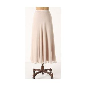 Anthropologie Midi Silk skirt
